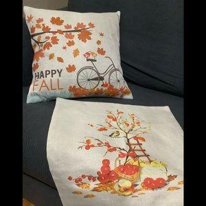Art Decor Autumn Cushion Covers 🍁🍂 2 covers